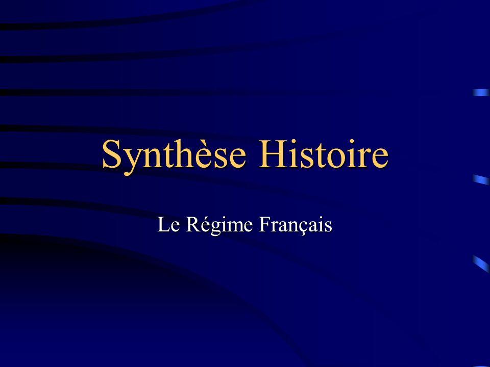 Synthèse Histoire Le Régime Français