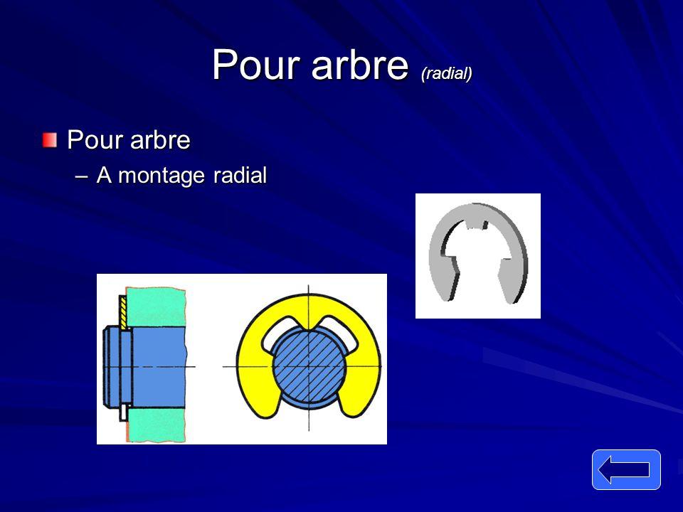 Pour arbre (radial) Pour arbre –A montage radial