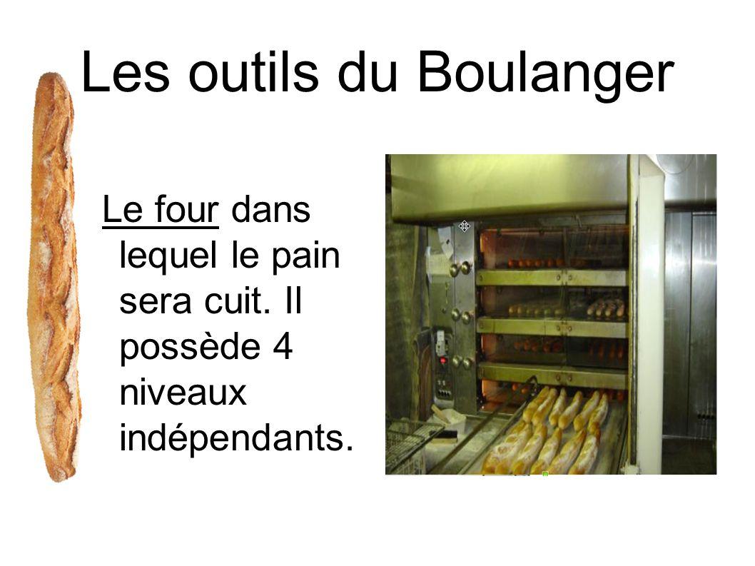 Les outils du Boulanger Le four dans lequel le pain sera cuit. Il possède 4 niveaux indépendants.