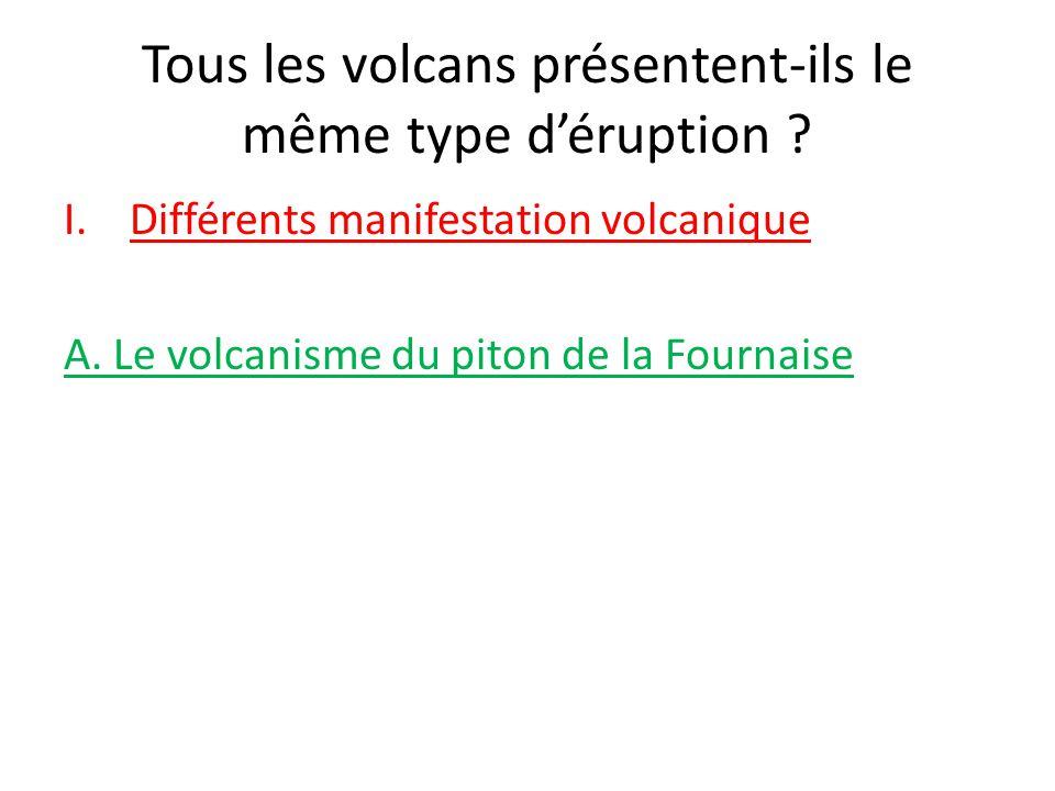 Tous les volcans présentent-ils le même type d'éruption .