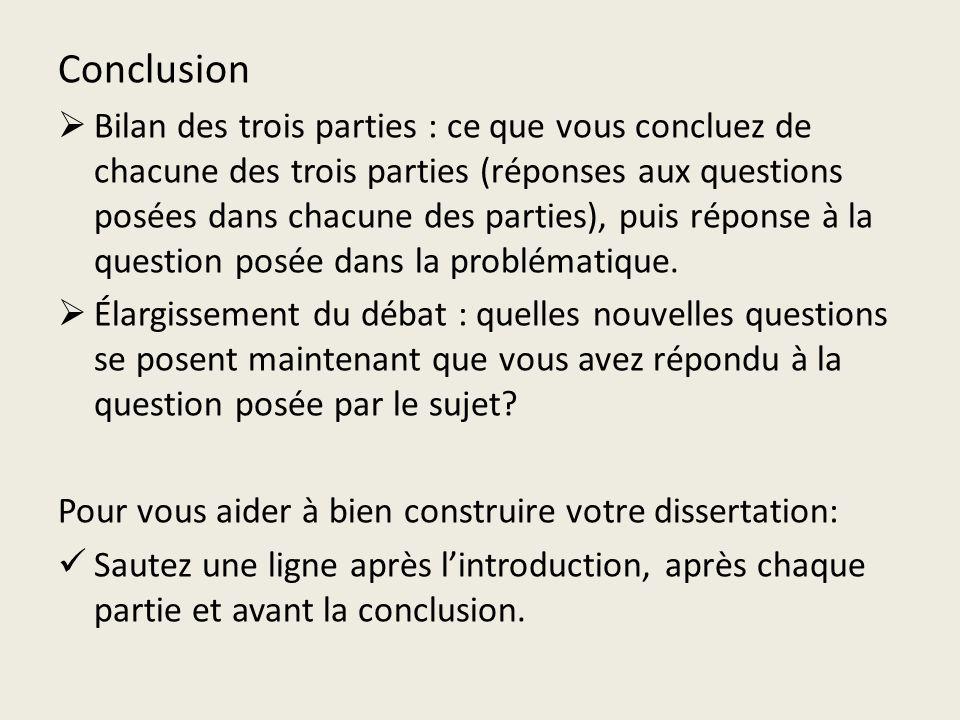 Conclusion dissertation argumentation directe indirecte