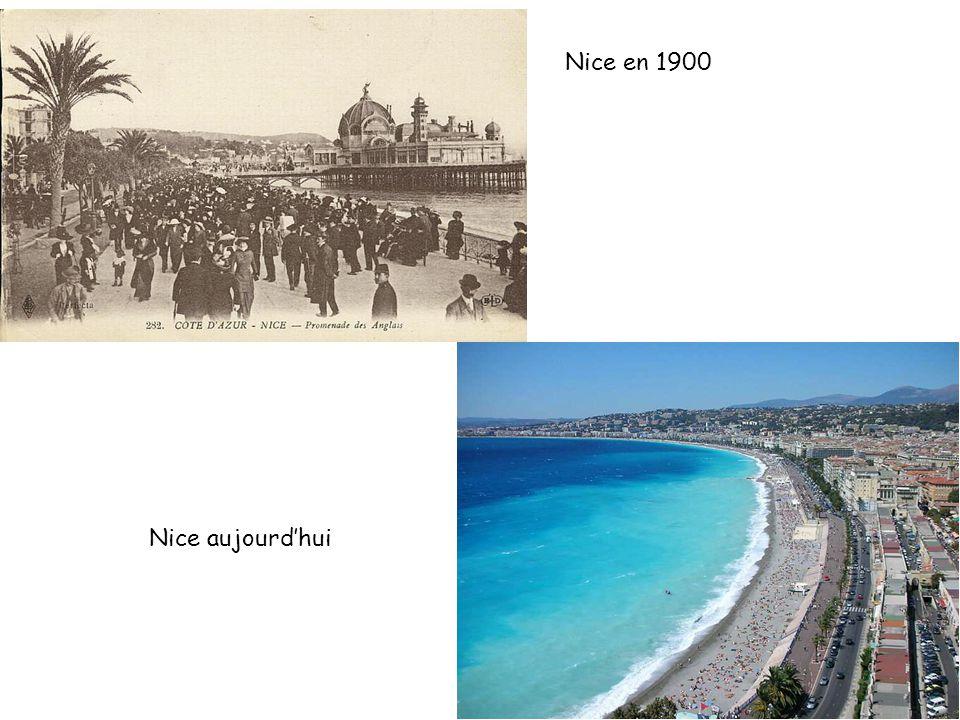 Nice en 1900 Nice aujourd'hui