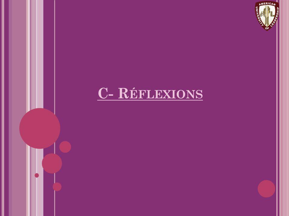 C- R ÉFLEXIONS