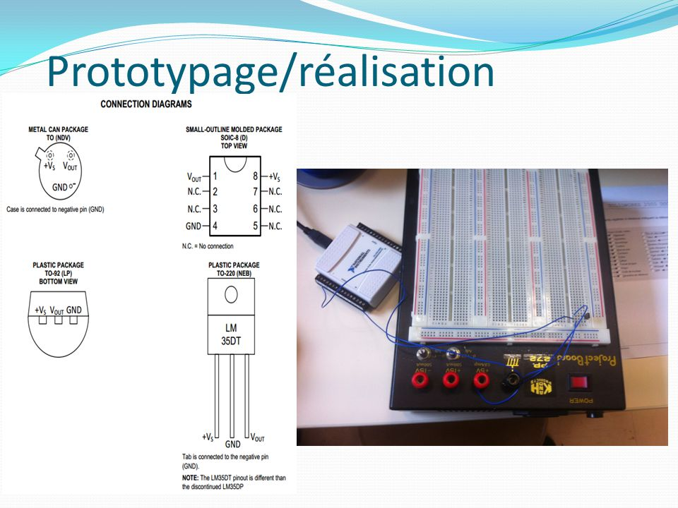 Prototypage/réalisation