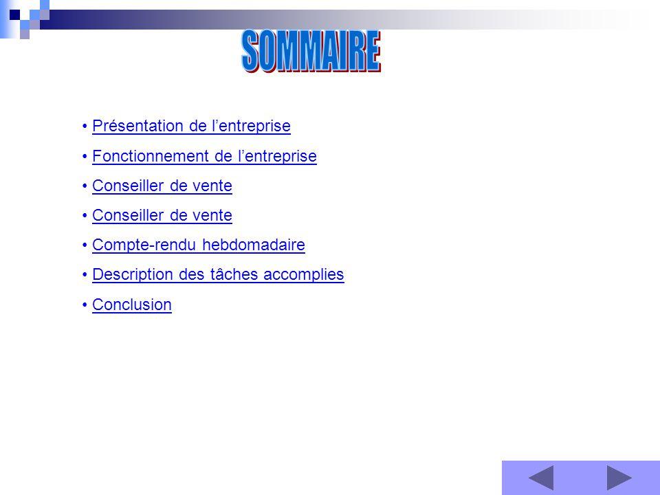 SOMMAIRE Présentation de l'entreprise Ouverture du magasin au public le 16 Avril 2010.