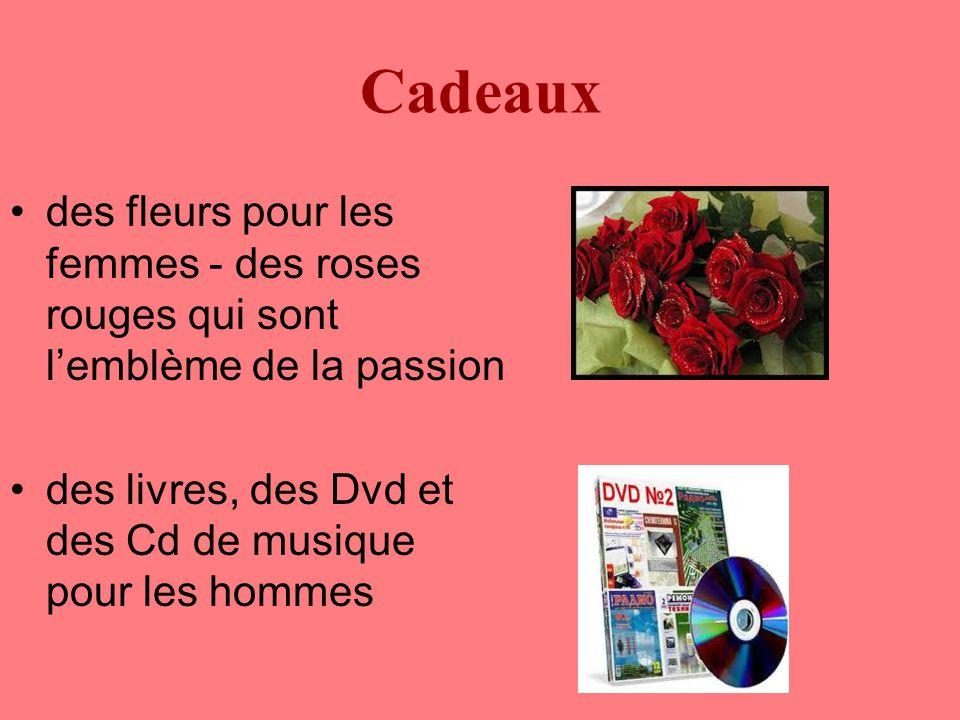 Cadeaux des fleurs pour les femmes - des roses rouges qui sont l'emblème de la passion des livres, des Dvd et des Cd de musique pour les hommes