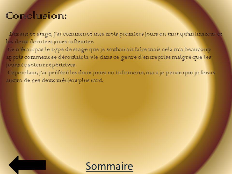 Annexe: D ocument explicatif: S alle de restauration: Sommaire