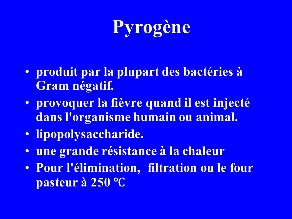 Pyrogène produit par la plupart des bactéries à Gram négatif.