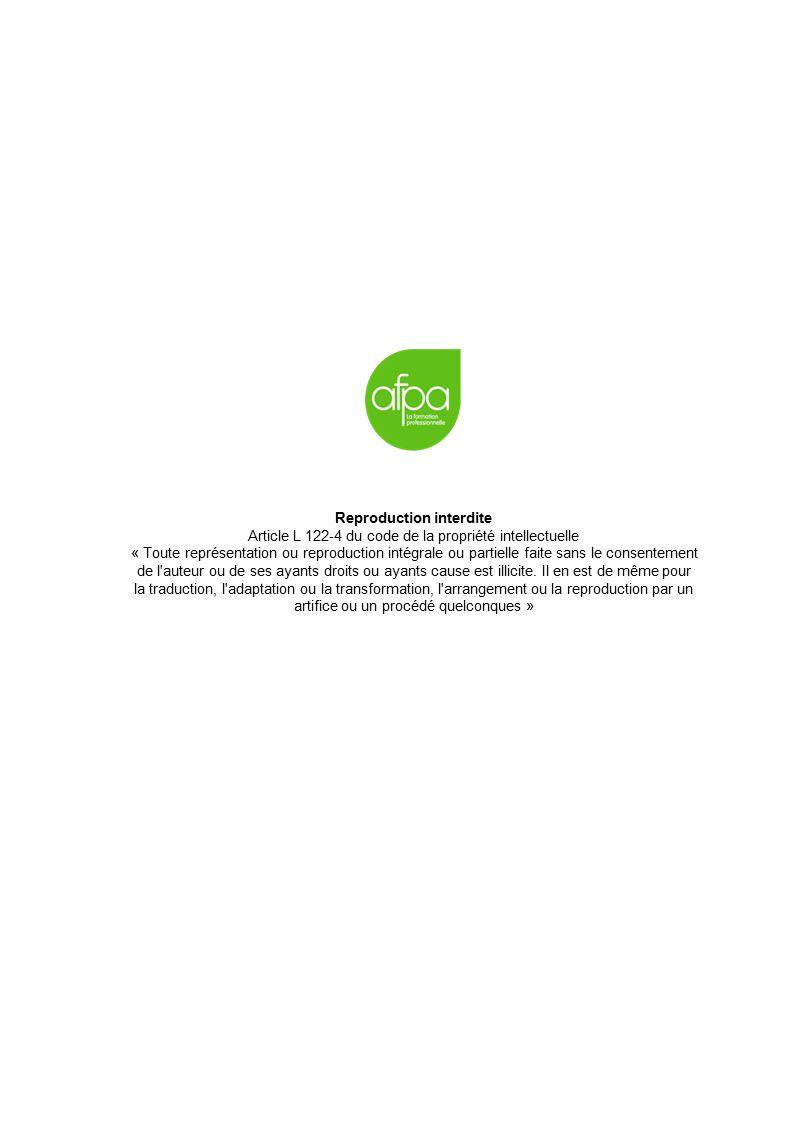 Reproduction interdite Article L 122-4 du code de la propriété intellectuelle « Toute représentation ou reproduction intégrale ou partielle faite sans le consentement de l auteur ou de ses ayants droits ou ayants cause est illicite.