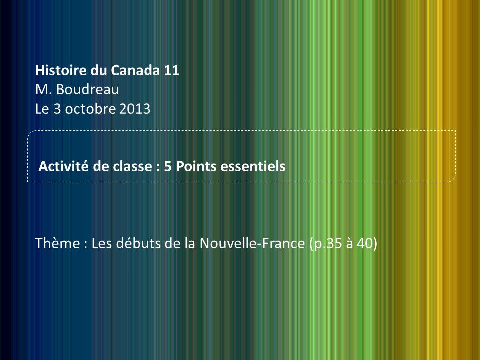 Histoire du Canada 11 M.