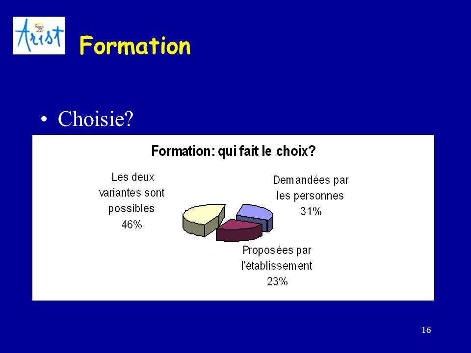 16 Formation Choisie?