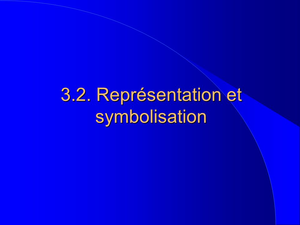 3.2. Représentation et symbolisation