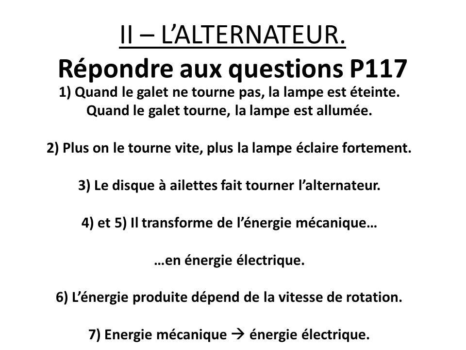 II – L'ALTERNATEUR.