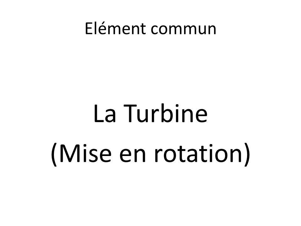 Elément commun La Turbine (Mise en rotation)