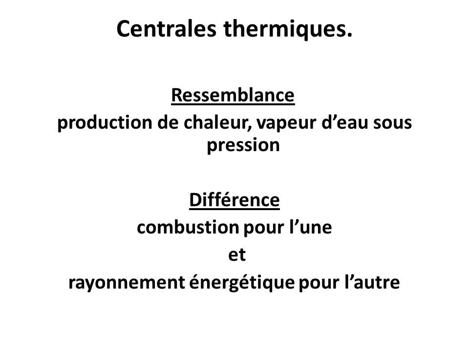 Centrales thermiques.