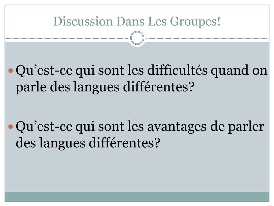"""Pr�sentation """"BILINGUALISME L'identit� Linguistique. Discussion ..."""