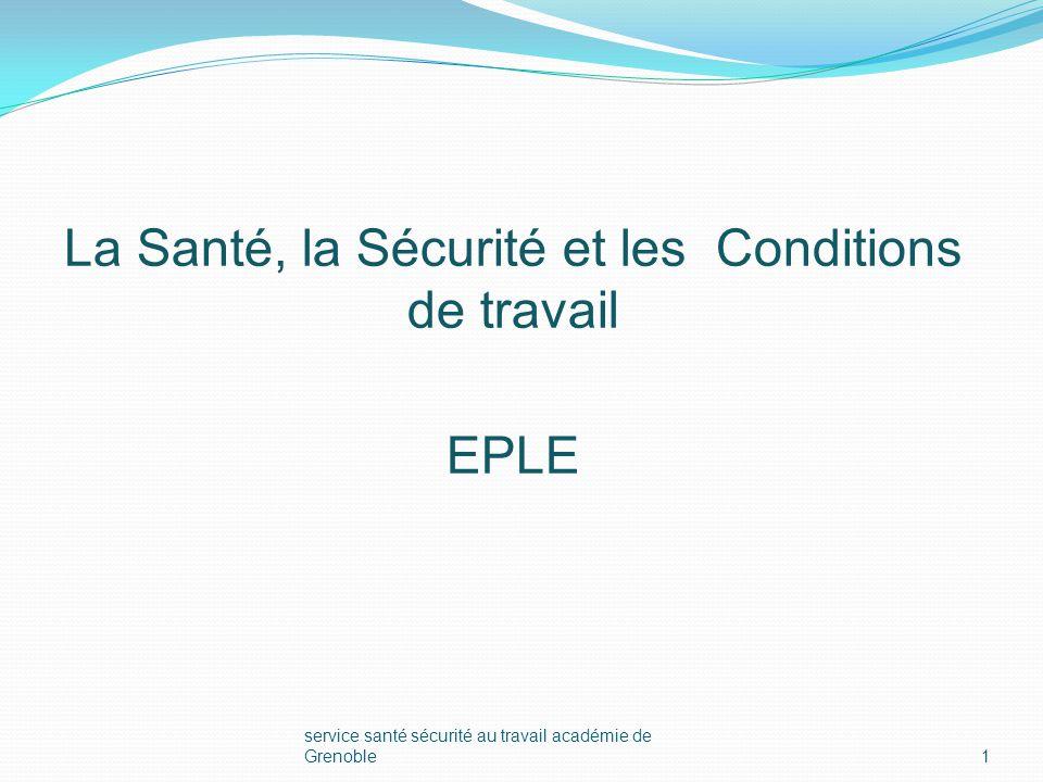 Grenoble1 la santé, la sécurité et les conditions de travail eple