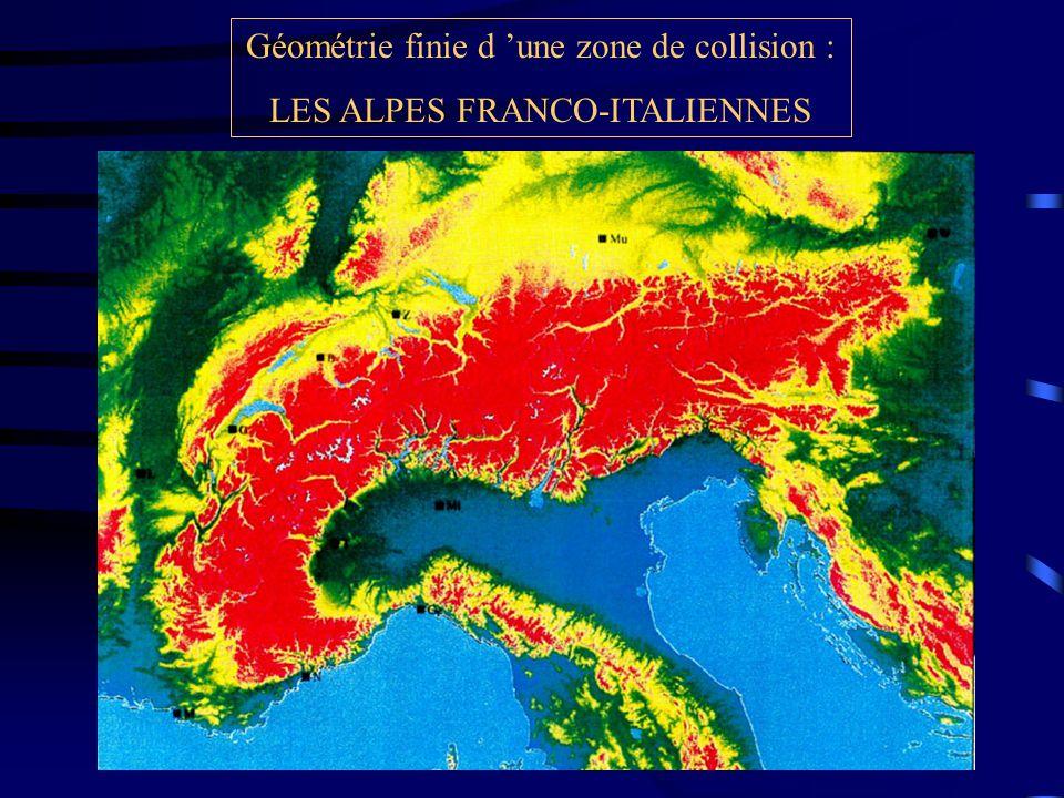 Géométrie finie d 'une zone de collision : LES ALPES FRANCO-ITALIENNES