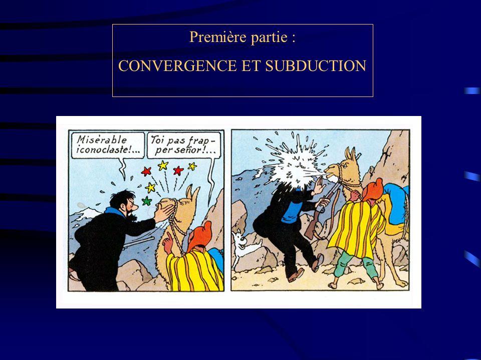 Première partie : CONVERGENCE ET SUBDUCTION