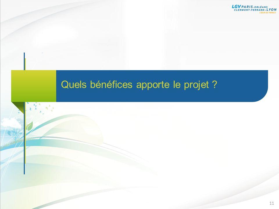 Quels bénéfices apporte le projet ? 11