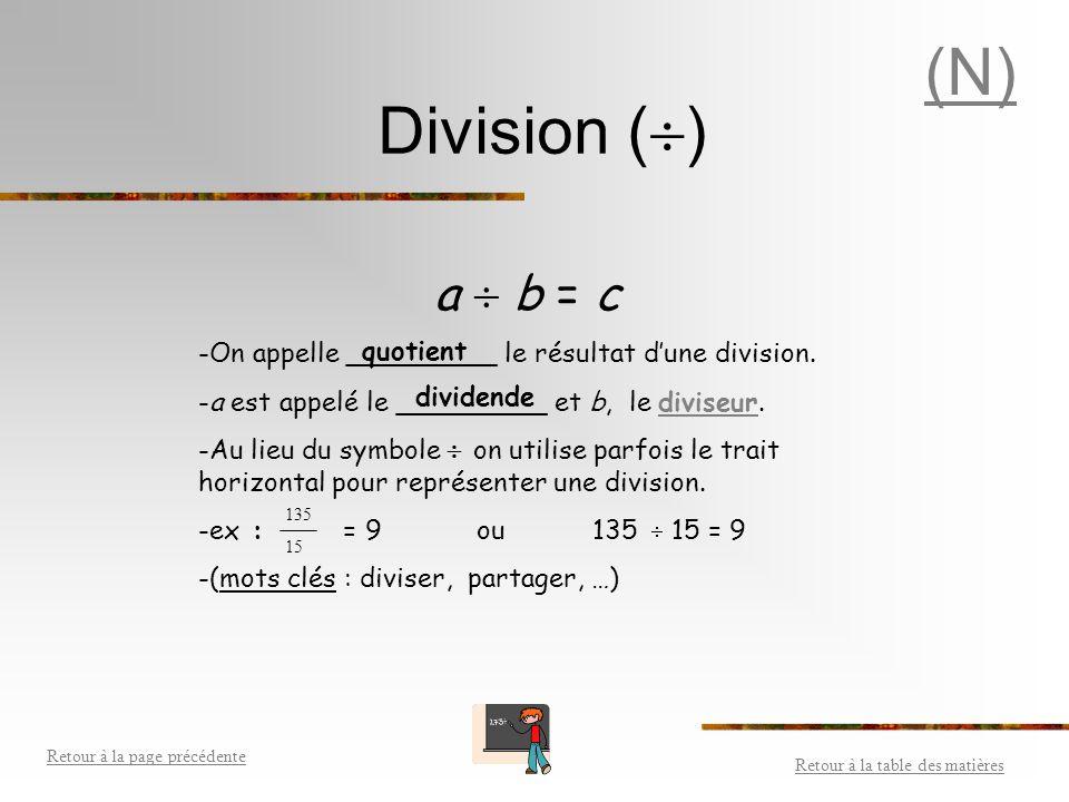 Multiplication (X) a  b = c - On appelle _________ le résultat d'une multiplication. - a et b sont appelés les facteurs.facteurs - (mots clés : multi