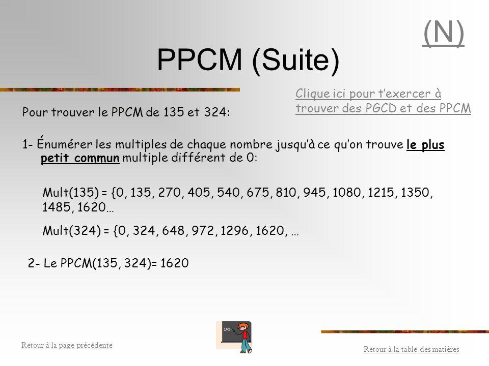 PPCM On peut utiliser la factorisation première pour trouver le plus petit commun multiple (PPCM) de deux ou plusieurs nombres.factorisation première