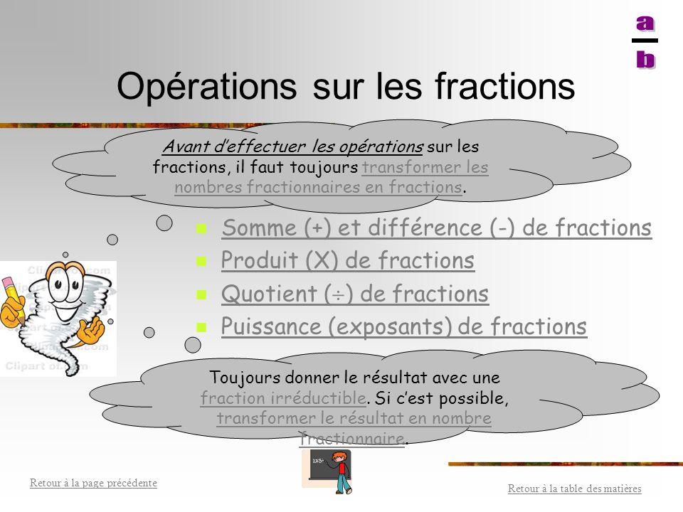 Comparer des fractions Dénominateur commun: Lorsque deux fractions ont un dénominateur commun, la fraction la plus grande est celle qui a le plus gran