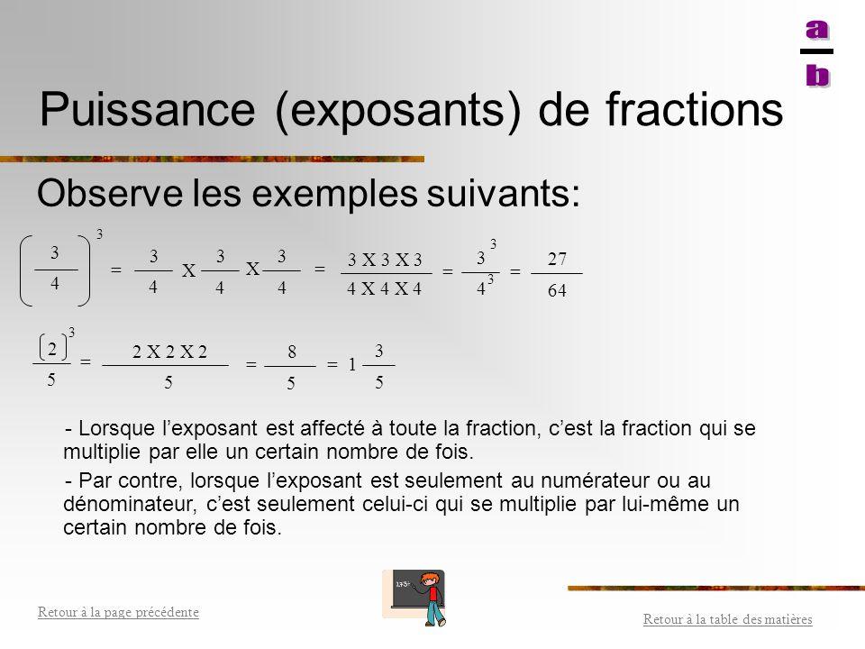 Somme (+) et différence (-) de fractions Retour à la table des matières Retour à la page précédente 1- Si les fractions n'ont pas le même dénominateur