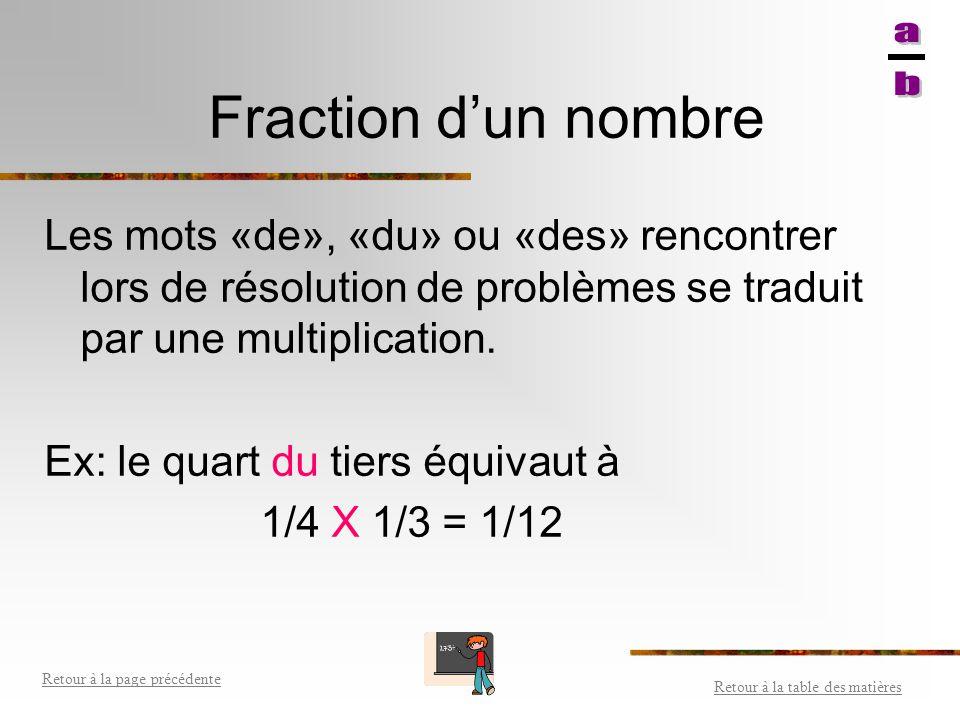 Puissance (exposants) de fractions Observe les exemples suivants: Retour à la table des matières Retour à la page précédente 3 = 3 4 3 4 3 4 3 4 X X =