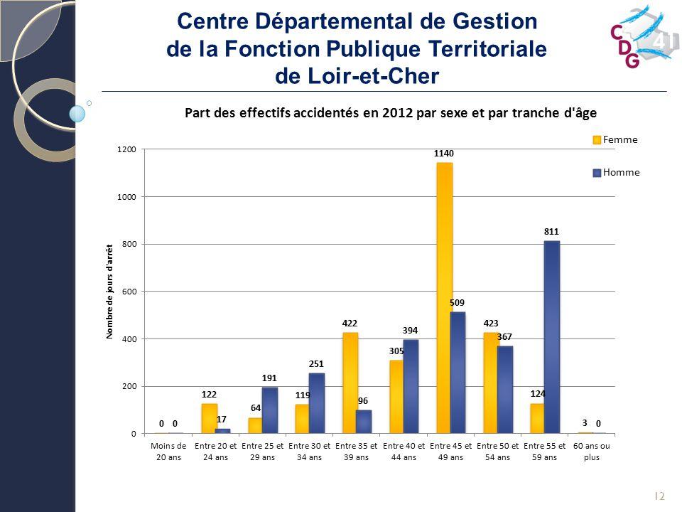 Centre Départemental de Gestion de la Fonction Publique Territoriale de Loir-et-Cher 12