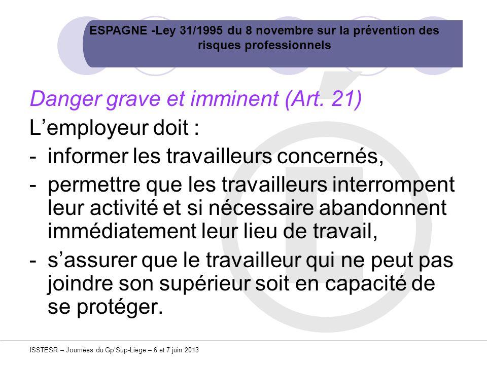 25 de la ley 31 1995 de: