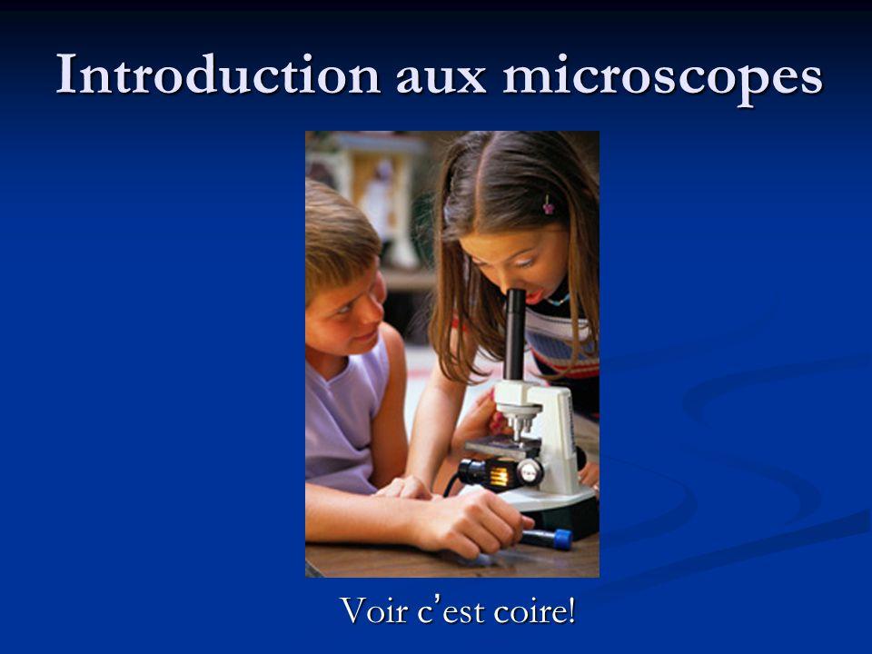 Introduction aux microscopes Voir c ' est coire!