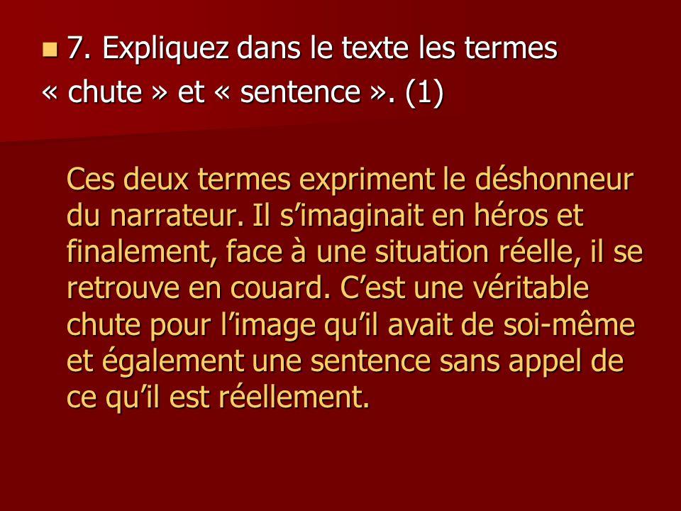 7.Expliquez dans le texte les termes 7.