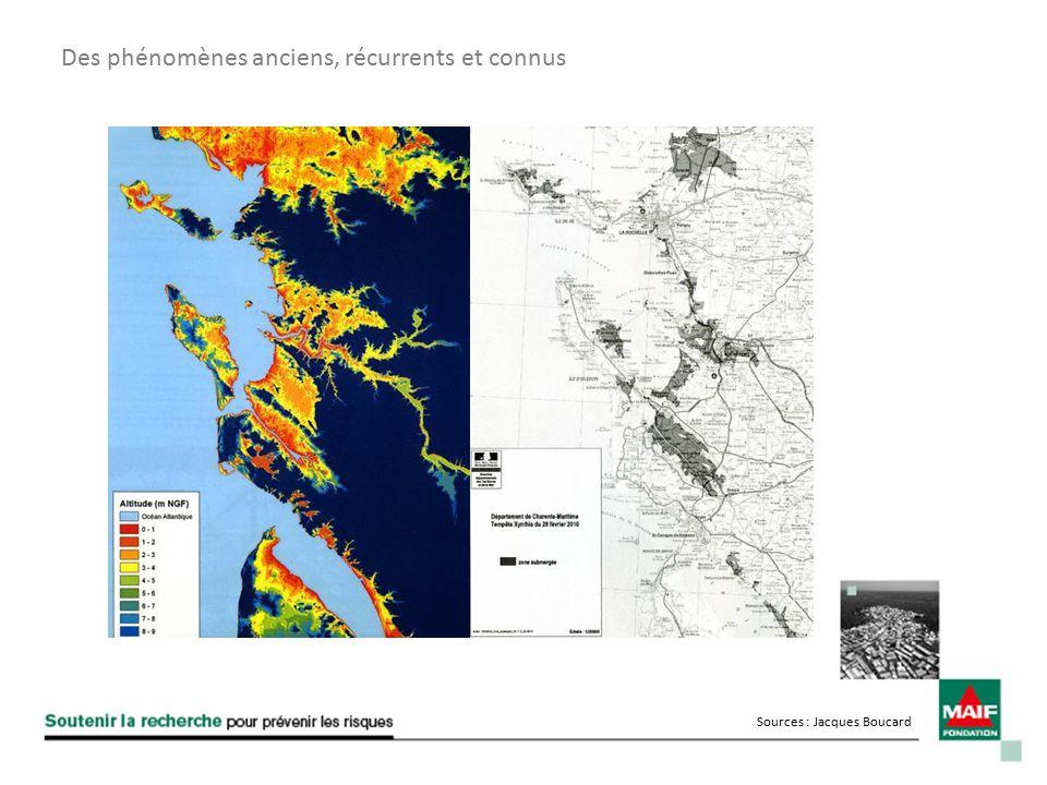 Des phénomènes anciens, récurrents et connus Sources : Jacques Boucard