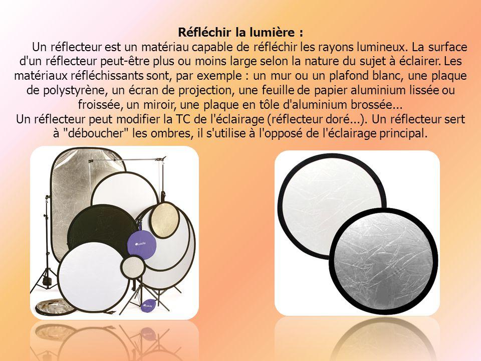 Réfléchir la lumière : Un réflecteur est un matériau capable de réfléchir les rayons lumineux.