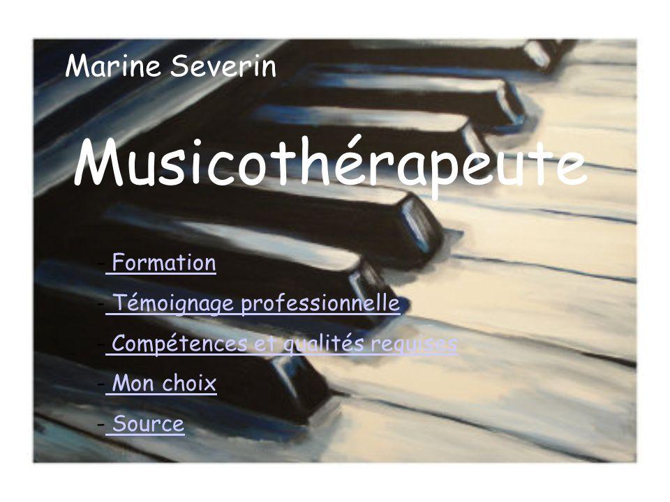 "Pr�sentation ""Musicoth�rapeute Marine Severin - Formation ..."