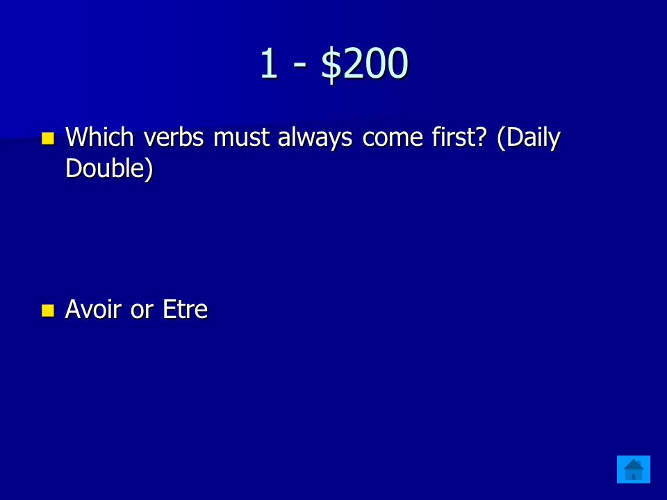 1 - $100 How many verbs make the passé composé. How many verbs make the passé composé.
