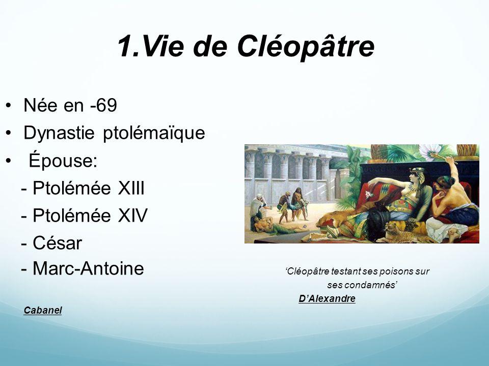 cleopatre sa rencontre avec cesar