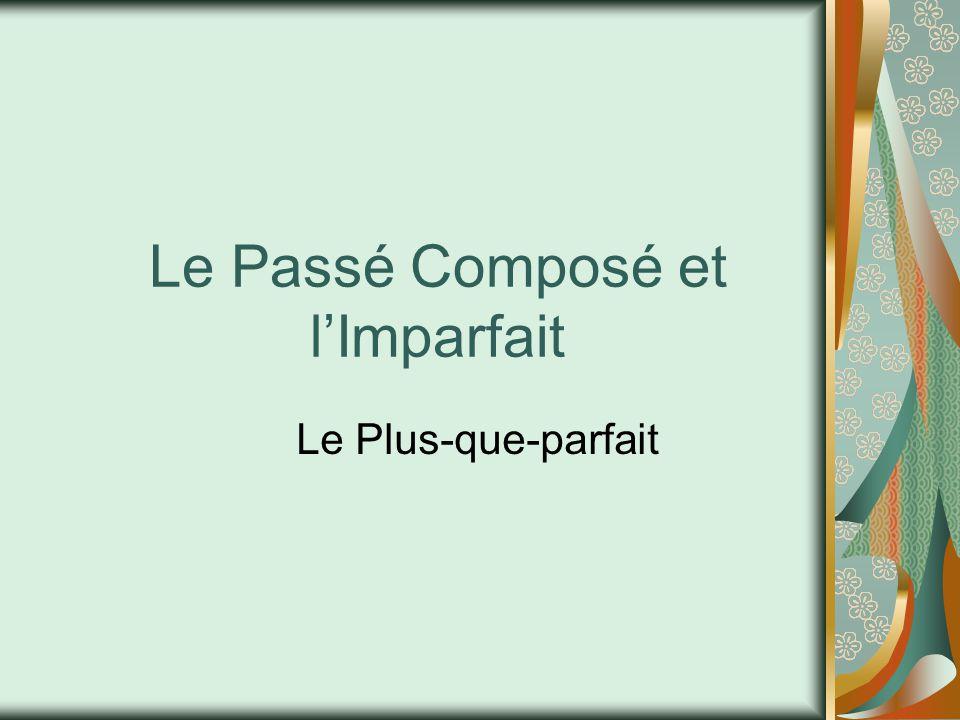 Le Passé Composé et l'Imparfait Le Plus-que-parfait
