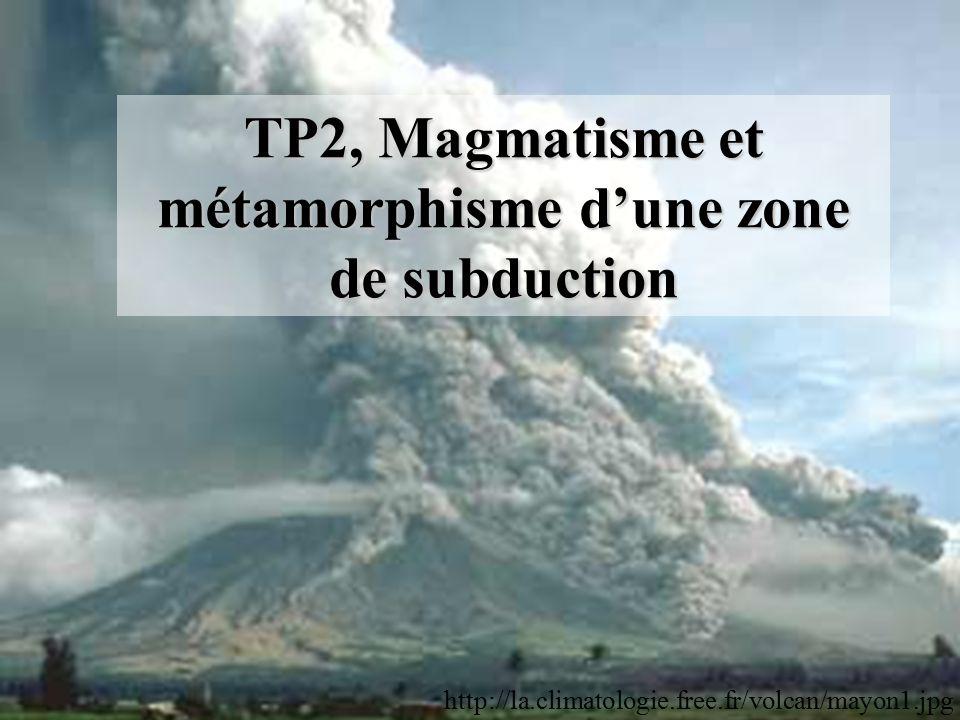 TP2, Magmatisme et métamorphisme d'une zone de subduction http://la.climatologie.free.fr/volcan/mayon1.jpg