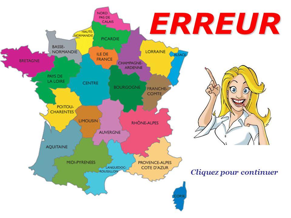 Connaissez-vous les régions françaises ? TEST QUIZ 5KNA Productions 2013 Cliquez ici pour commencer