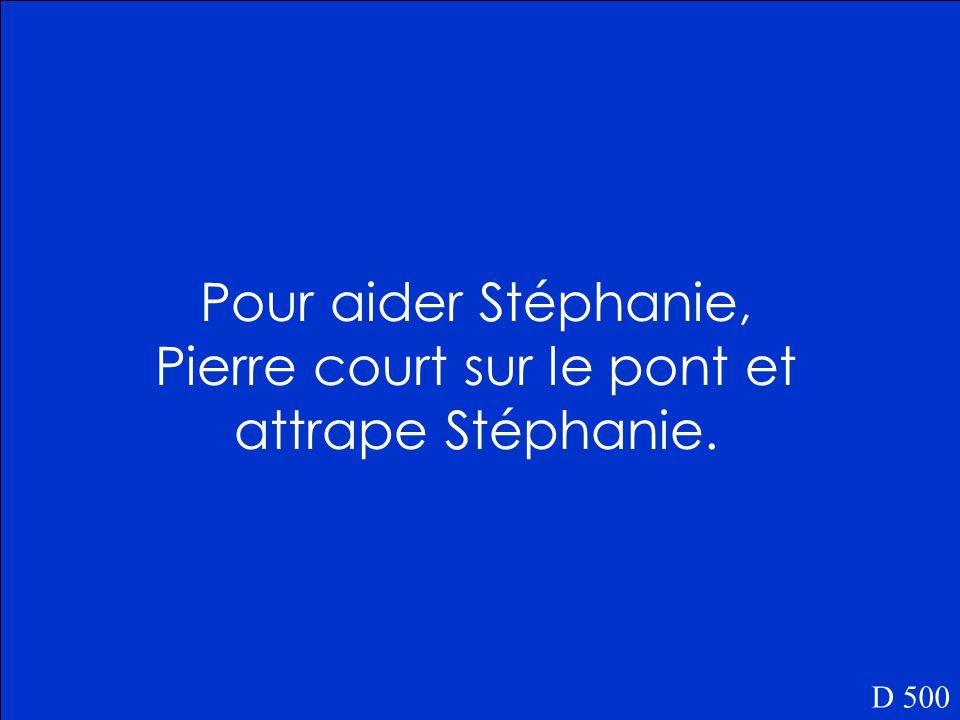 Qu'est-ce que Pierre fait pour aider Stéphanie D 500