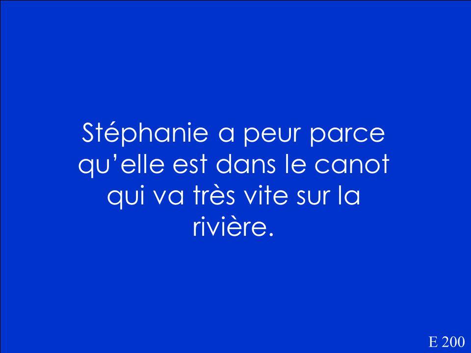 Pourquoi est-ce que Stéphanie a peur E 200