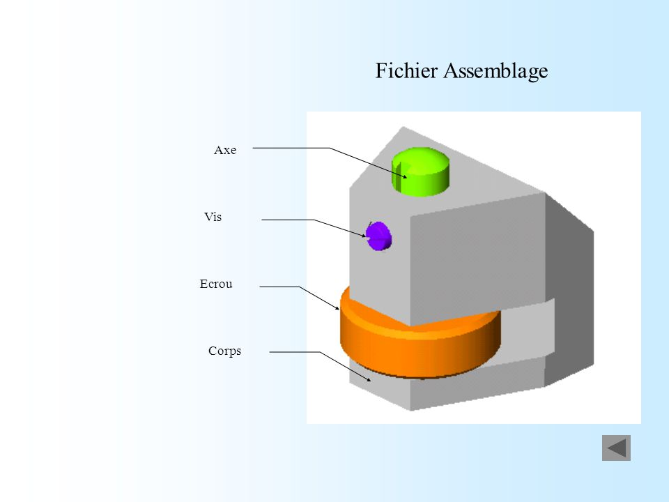 Fichier Assemblage Axe Vis Ecrou Corps