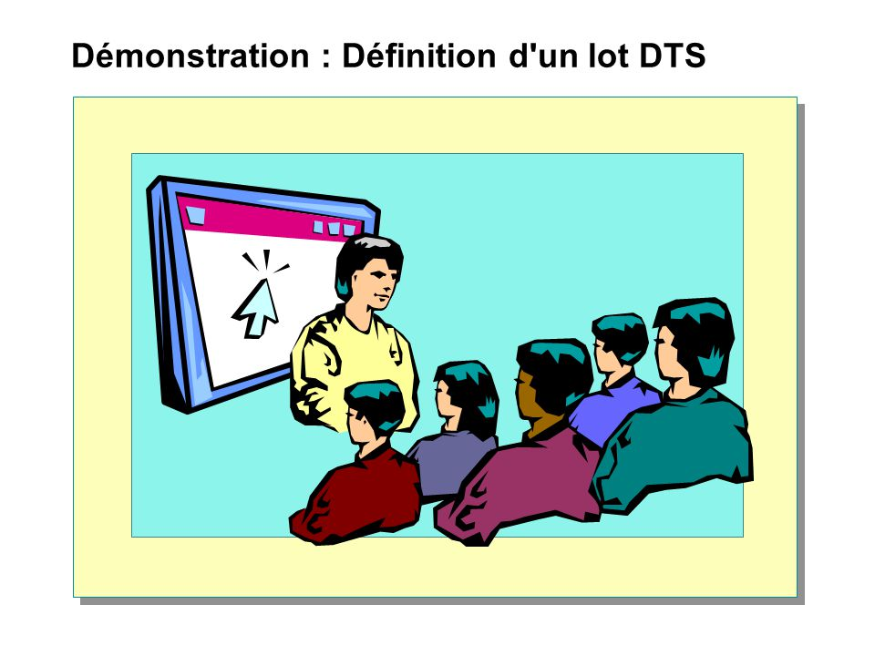 Démonstration : Définition d un lot DTS