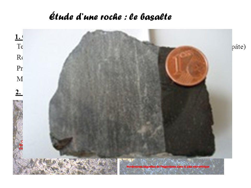 Étude d'une roche : le gabbro 1.Observation macroscopique 2.