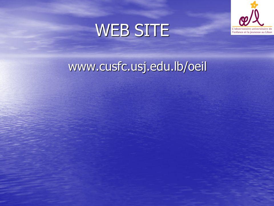 WEB SITE WEB SITE www.cusfc.usj.edu.lb/oeil