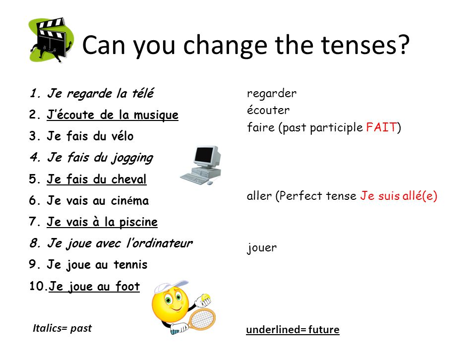 Can you change the tenses.