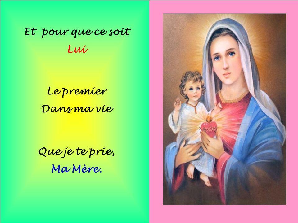 .. C'est pour cela Marie Pour vivre En harmonie Au milieux de mes frères