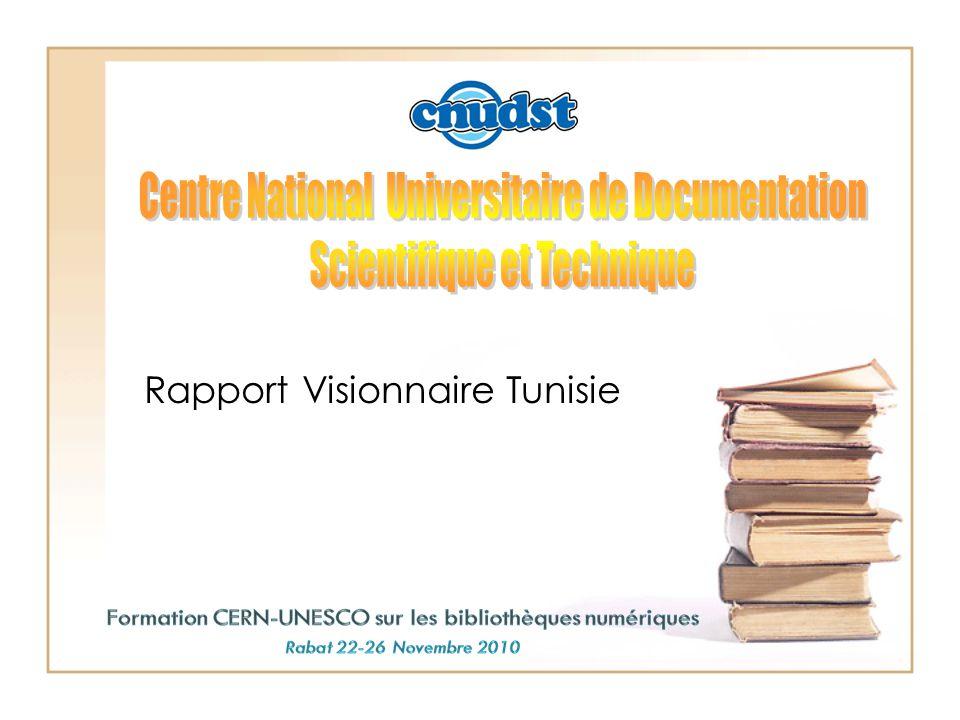 Rapport Visionnaire Tunisie